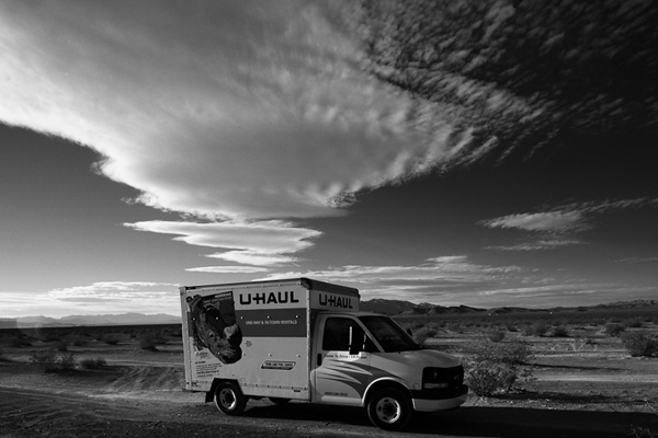 UHaul Truck in Nevada Desert #1