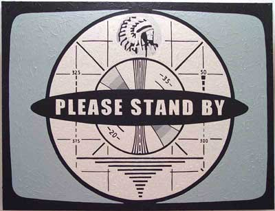 Graphic From Old TV Message: Please Stand By