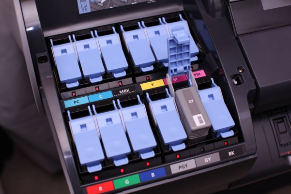 Photograph Of The Canon 6300 Ink Cartridge Bay Open