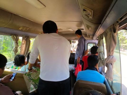 entering laos