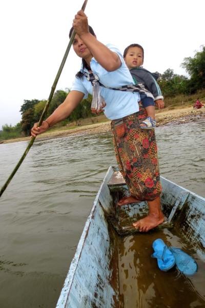 River Boat Ride Xamti, Laos