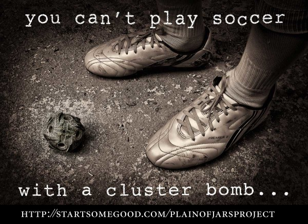 Cluster bomb or soccer?