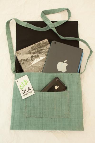 Donor Photo UXO Survivor Handmade Shoulder Bag